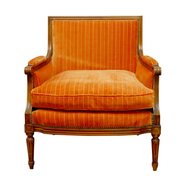 French Louis XVI Style Marquise Armchair - Image 1 of 7