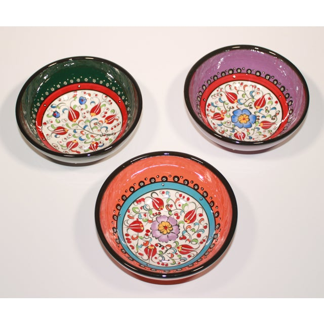 Turkish Hand Made Bowls - Set of 3 - Image 2 of 5