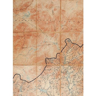 Santanoni New York 1903 Us Geological Survey Folding Map For Sale