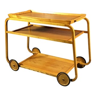 1940s Birch Bar Cart by Reimers Möbler , Mjölby Sweden For Sale
