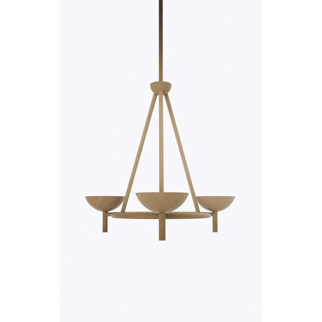 Material Lust Contemporary 200 Chandelier in Brushed Brass by Orphan Work, 2020 For Sale - Image 4 of 6