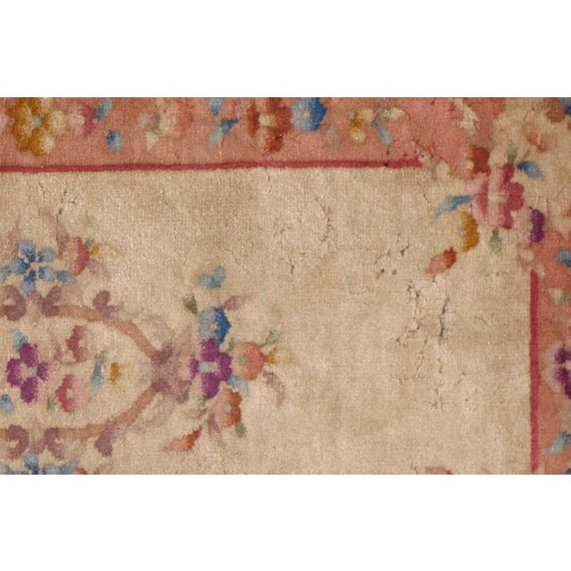 1930s Antique Art Deco Chinese Rug - 2′ × 3′10″ For Sale - Image 4 of 7