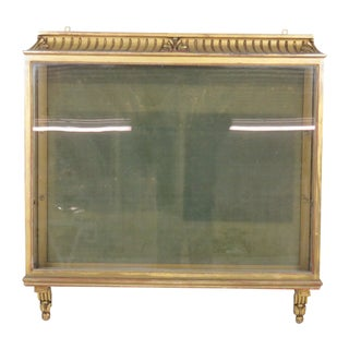 Antique French Gilt Carved Hanging Vitrine For Sale