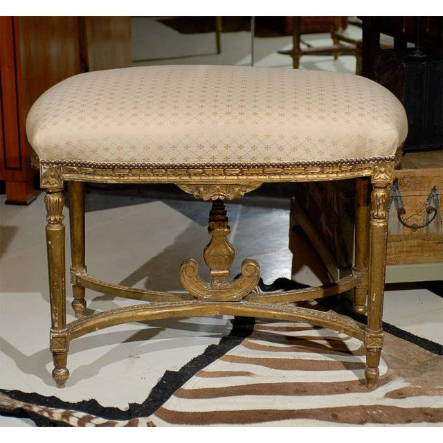 Oversized Louis XVI Gilded Stool For Sale In Atlanta - Image 6 of 7