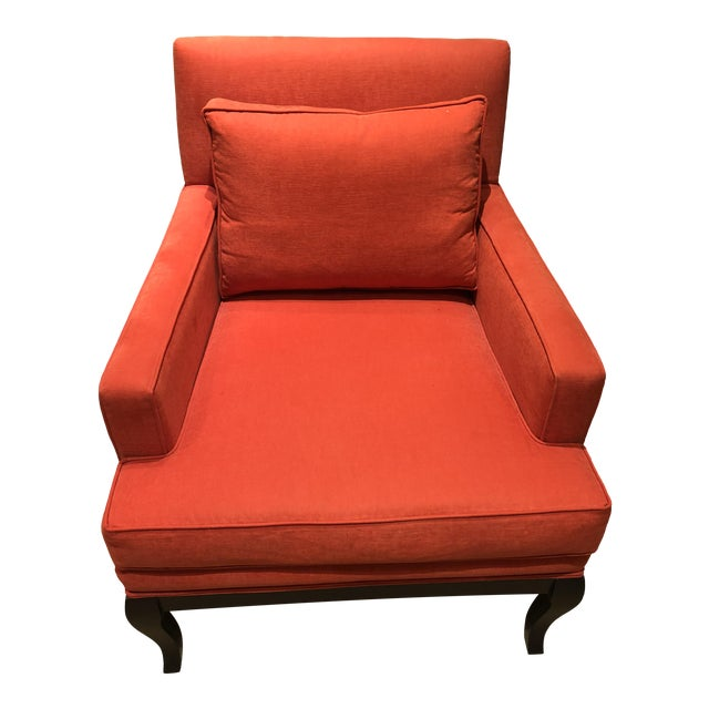Traditional Alaska Aragosta Red Upholstered Arm Chair For Sale