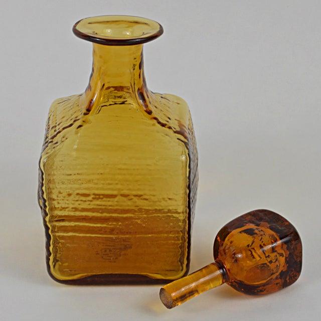 Blenko Vintage Blenko Art Glass Decanter For Sale - Image 4 of 5