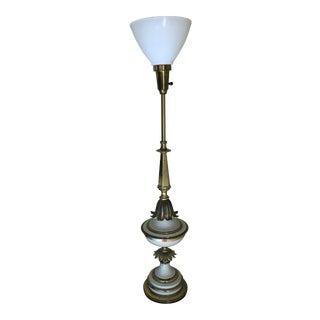 1920s Hollywood Regency Torcherie Brass Table Lamp