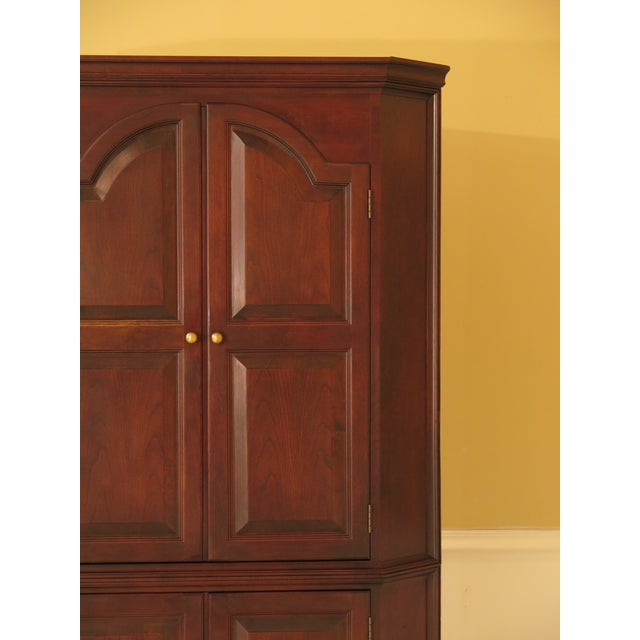 Raised Panel Door Solid Cherry Tv Corner Cabinet For Sale - Image 9 of 13