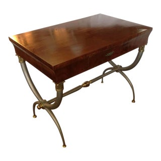 Midcentury Italian Neoclassic Desk For Sale