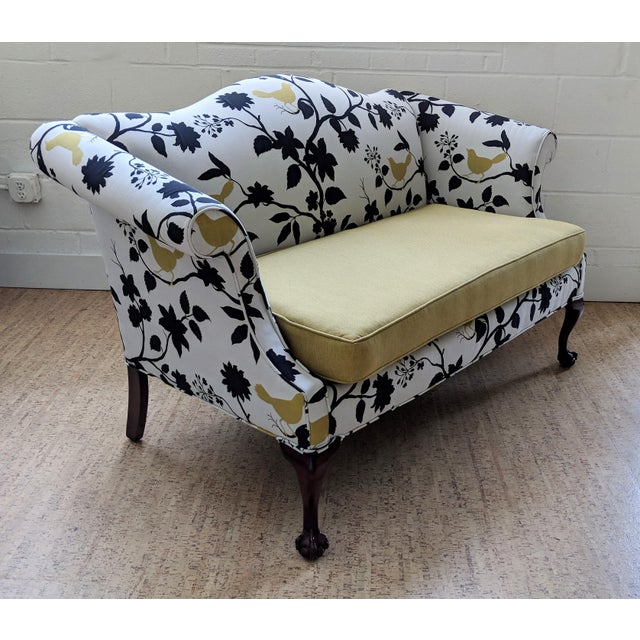 Antique Queen Anne Sofa With Ball and Claw Feet - Restored For Sale - Image 4 of 11