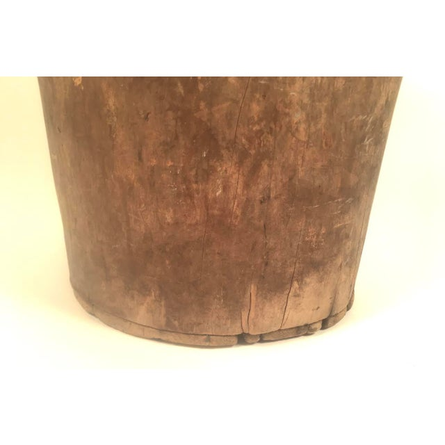 Primitive Antique Carved Tree Trunk Storage Barrel For Sale In Boston - Image 6 of 9
