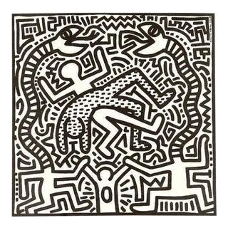 1980s Vintage Original Keith Haring Vinyl Cover Art For Sale
