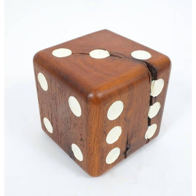 1950s Large Solid Wooden Dice, circa 1950 For Sale - Image 5 of 6