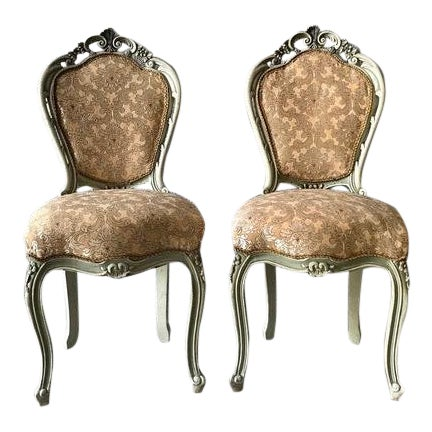 1900s Vintage Louis XVI Chairs- A Pair For Sale