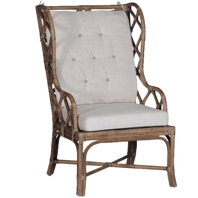 Schumacher Gabby Watson Chairs With Custom Schumacher Cushions - A Pair For Sale - Image 4 of 5