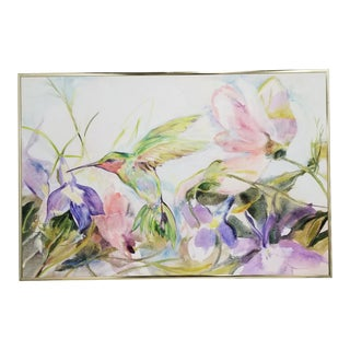 Margaret Marchand Ruby-Throated Hummingbird Watercolor Painting For Sale