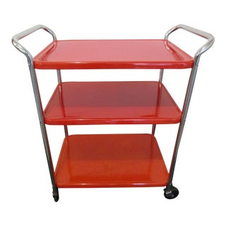 Vintage Double Handled Three Tier COSCO Serving Cart