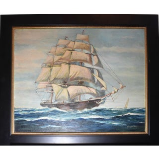 George Robertson Seascape Ship Painting For Sale