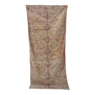 1970s Vintage Moroccan Rug For Sale