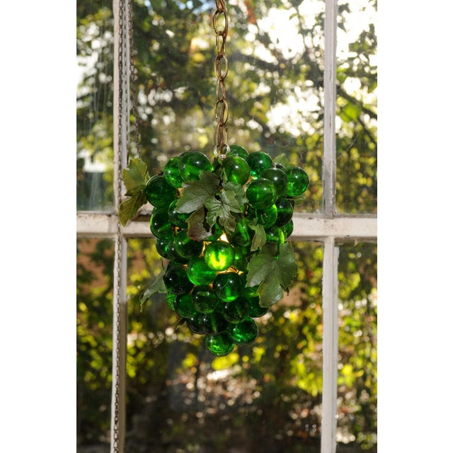 Midcentury Grape Cluster Light of Green Lucite For Sale - Image 4 of 8