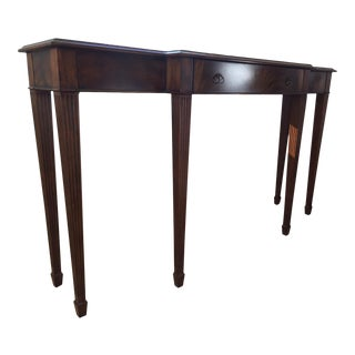 Regency Maitland-Smith Aged Mahogany Finished Console Table For Sale