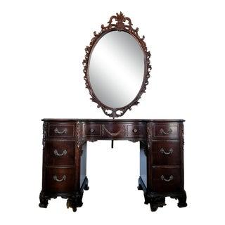 Antique Phenix Furniture Company Vanity & Mirror For Sale