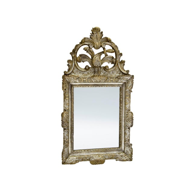 Rare 18th Century Silver Leaf Gilded Louis XIV Mirror For Sale - Image 10 of 11