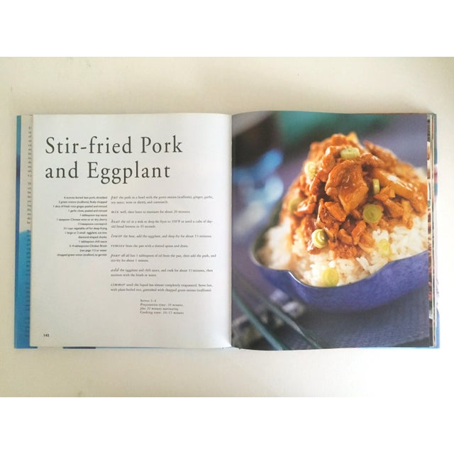 """Blue """" Complete Chinese Cooking """" Amy Tai Modern Chinese Hardcover Cookbook For Sale - Image 8 of 11"""