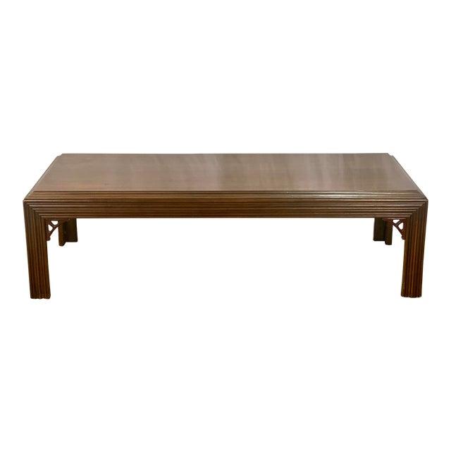 Vintage Mahogany Lane Altavista Chippendale Coffee Table For Sale