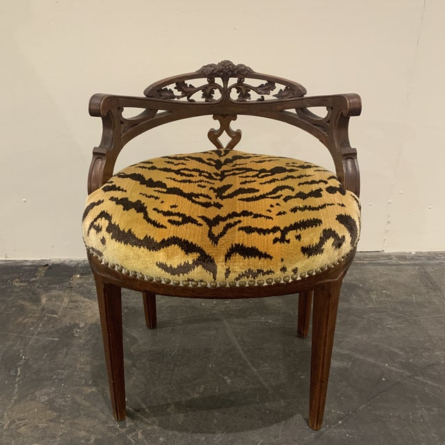 Carved French Vanity Bench For Sale - Image 13 of 13