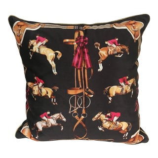 Equestrian Pillow Cover For Sale