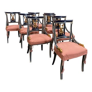 19th Century Venetian Chairs - Set of 8 For Sale