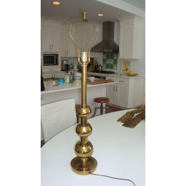 1960s 1960s Stiffel Brass Three Ball Lamp For Sale - Image 5 of 5