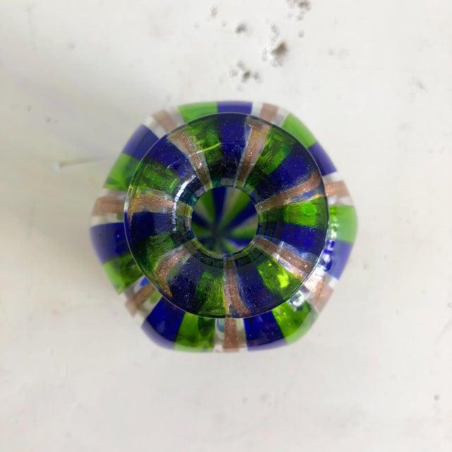 Boho Chic L Campanella Murano Art Glass Vase For Sale - Image 3 of 6