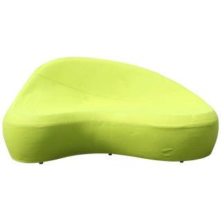 Contemporary Modern Green Sofa Saruyama by Toshiyuki Kita for Moroso Italy 1980s For Sale