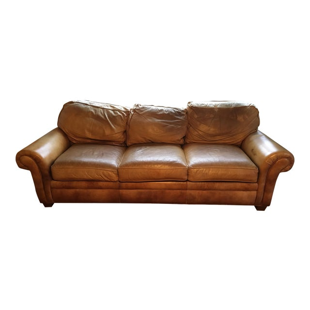 5afcaf873ee Hancock & Moore Whiskey Brown Leather City Sofa