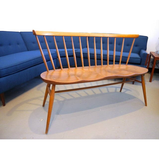 Beautiful mid century Ercol Windsor love seat. Extremely rare to find one of these on this side of the pond, designed in...