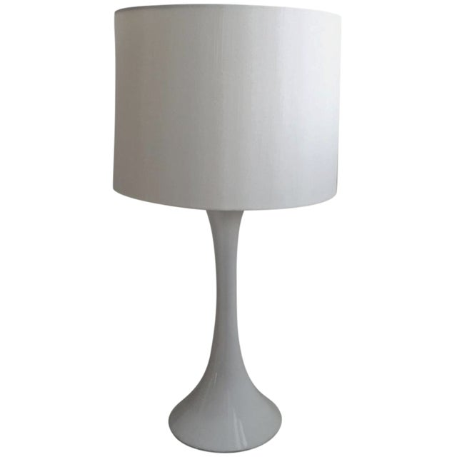 CB2 Ada II White Table Lamp For Sale