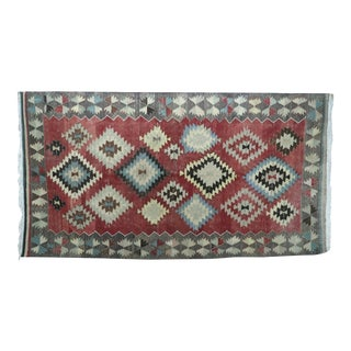 Vintage Turkish Kilim Rug- 5′5″ × 10′ For Sale