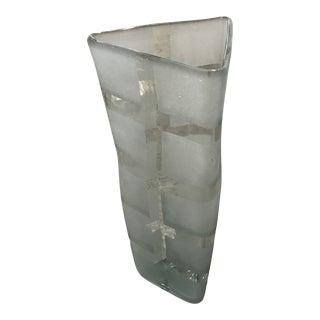 Vintage Designer's Guild Clear Triangular Vase For Sale
