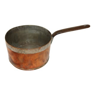 19th Century French Copper Sauce Pan For Sale