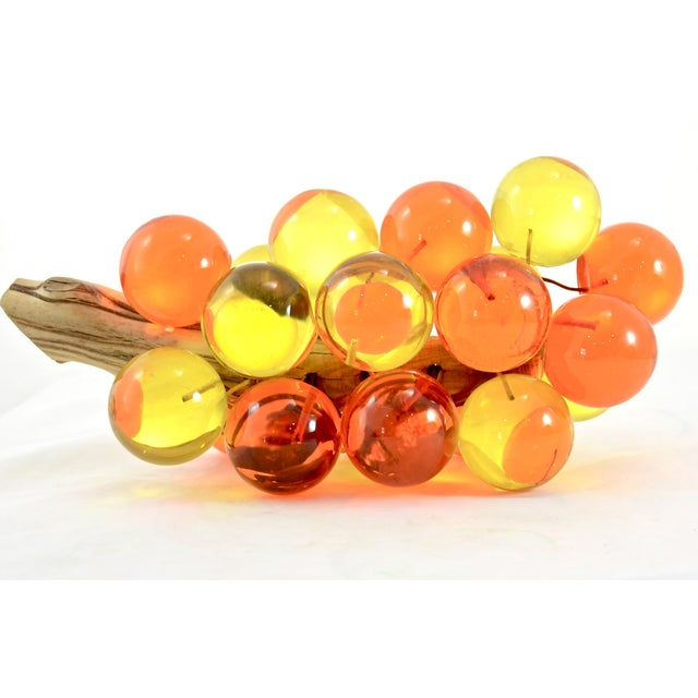 1960s Orange & Yellow Lucite Grapes - Image 5 of 7
