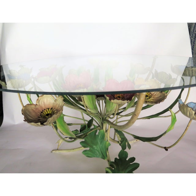 1960s 1960s Italian Multi-Color Tole Wrought Iron Coffee Table For Sale - Image 5 of 6