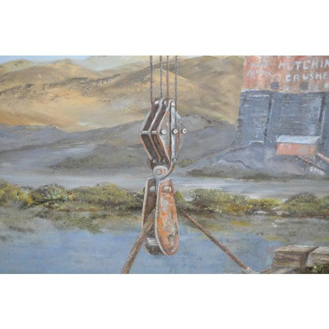 Hutchinson Co. Quarry Original Oil Painting c.1960 - Image 7 of 9
