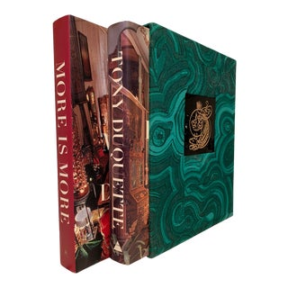 Tony Duquette More Is More Luxury Boxed Set, Signed by Author - 3 Pieces For Sale