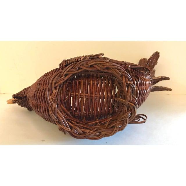Wicker Vintage Wicker Chicken Basket For Sale - Image 7 of 8