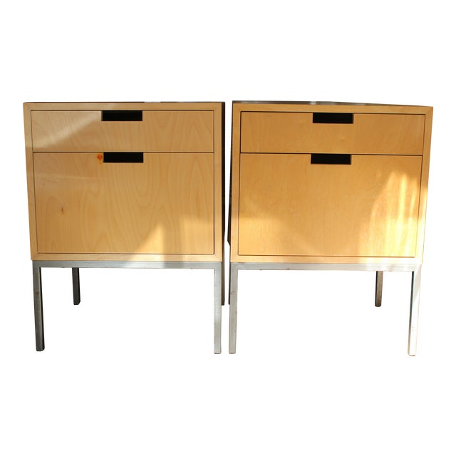 Mid-Century Modern Nightstands - A Pair - Image 1 of 11