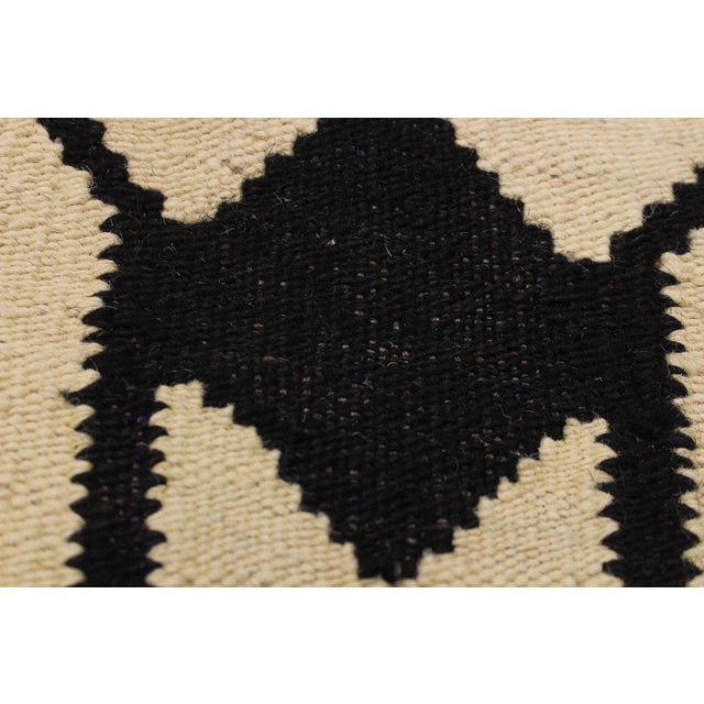 2000 - 2009 Abstract Kilim Dorthey Ivory Hand-Woven Wool Rug -5′8″ × 7′4″ For Sale - Image 5 of 8