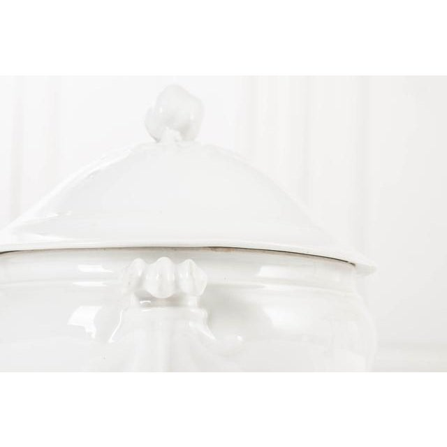 Farmhouse French White-Glazed Ironstone Soup Tureen For Sale - Image 3 of 6
