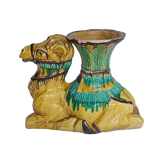 Italian Terracotta Camel Planter For Sale - Image 3 of 13